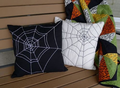Spider Web quilted pillows