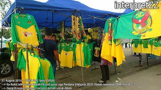 Gerai menjual jersi Kedah FA di Stadium Bukit Jalil