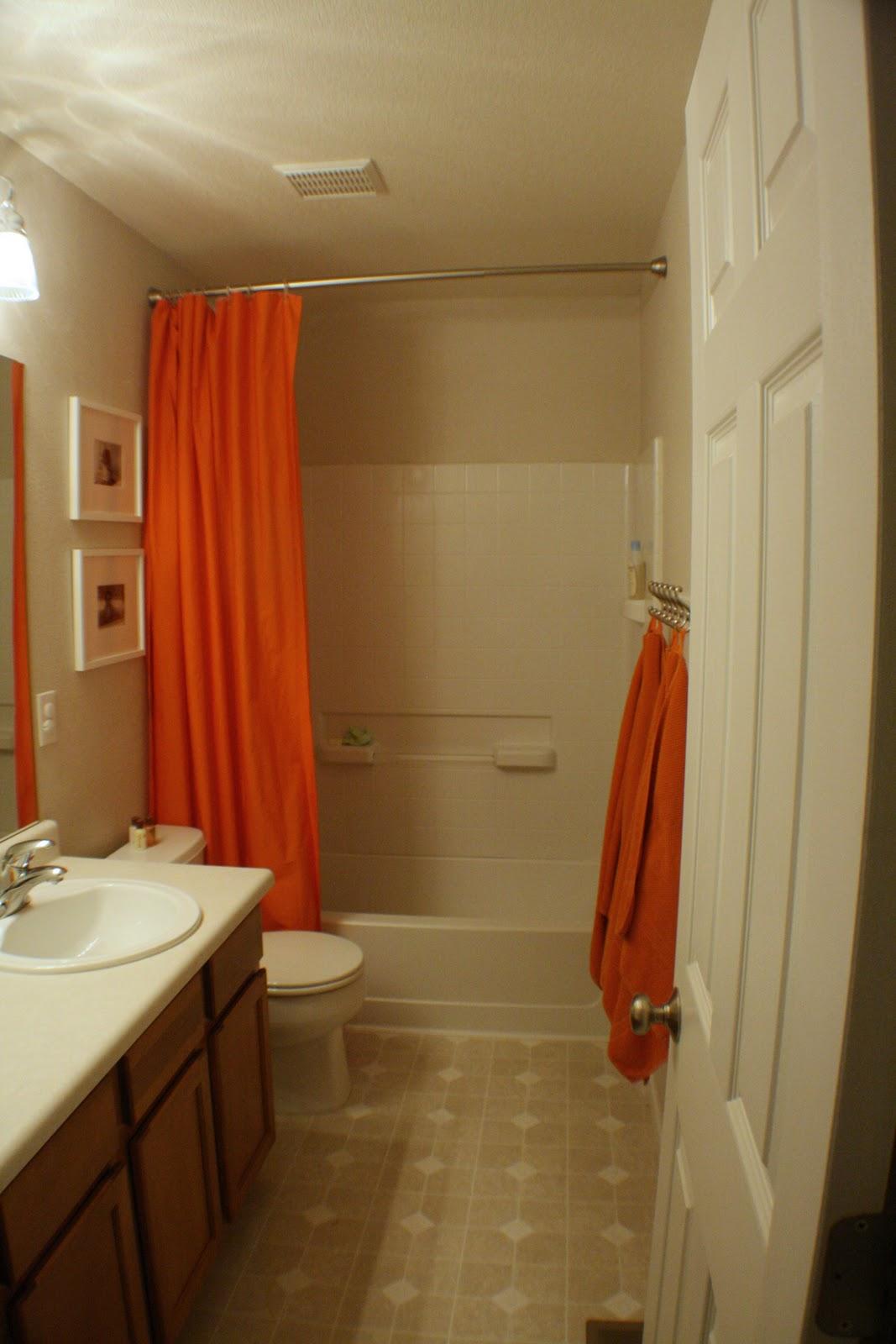 Thomas S Orange Bathroom