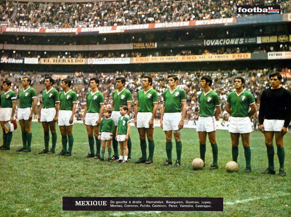 Resultado de imagem para seleção mexicana 1970