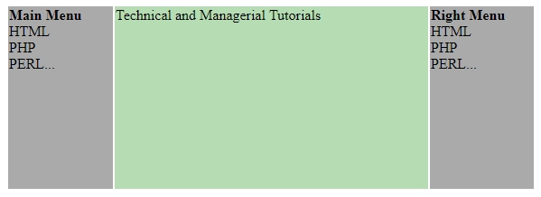 html layouts