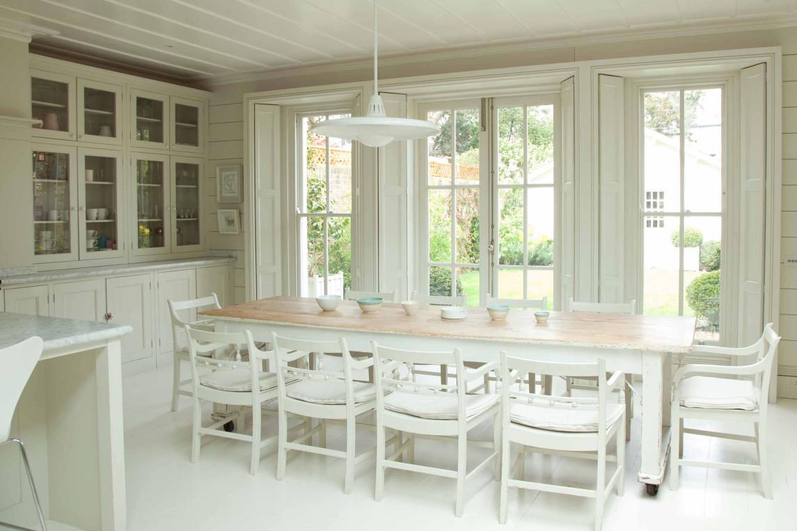 Beautiful White Modern Farmhouse Kitchen In England By Plain English