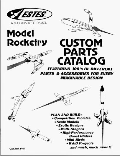 Model Rocket Building: Estes Black Brant III, Part 1 Parts