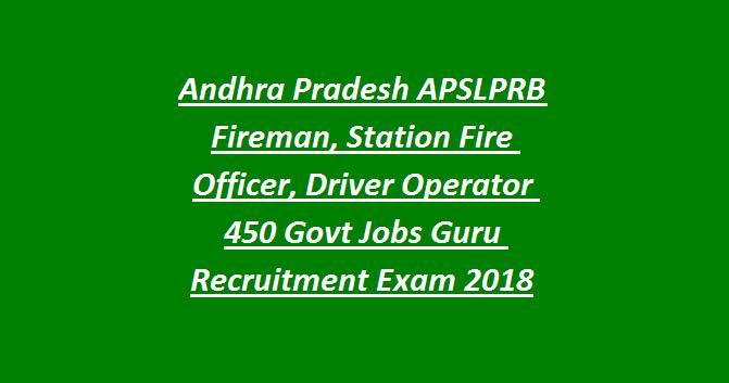 AP Police Govt Jobs 2018 450 Fireman, Station Fire Officer