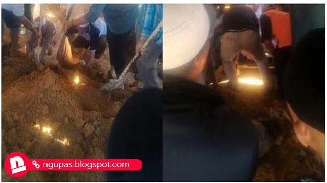 Muncul cahaya dari dalam kuburan bikin Netizen heboh!