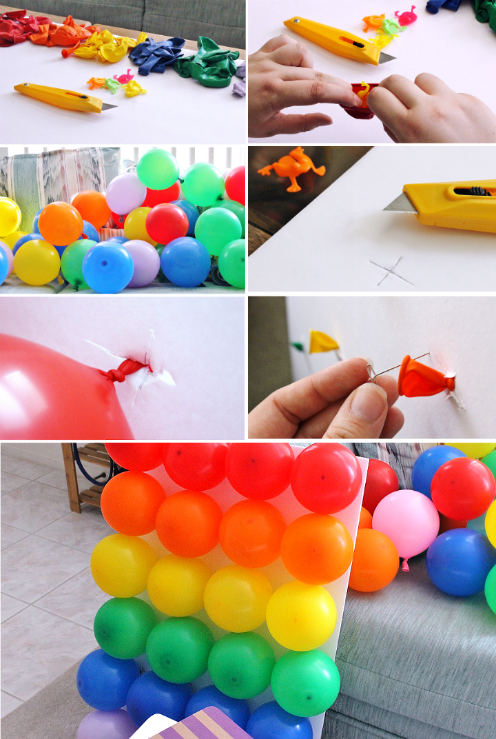 This easy, dart free, ballon toss is a fun way to break up any movie night with it's rainbow theme! #YourTaxCash #AD