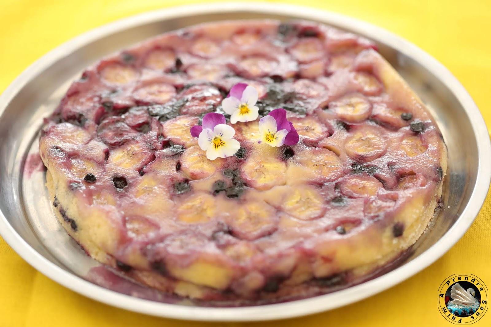 Clafoutis coco bananes myrtilles