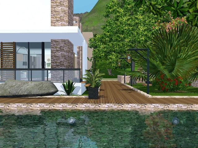 villa sims 3 piscine creusée