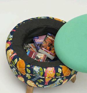 Puffs con neumáticos reciclados