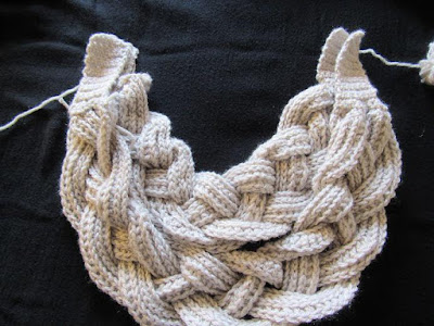 Tørklæde med fletning - Gratis mønster