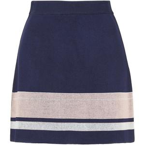 Topshop's modern stripe navy skirt