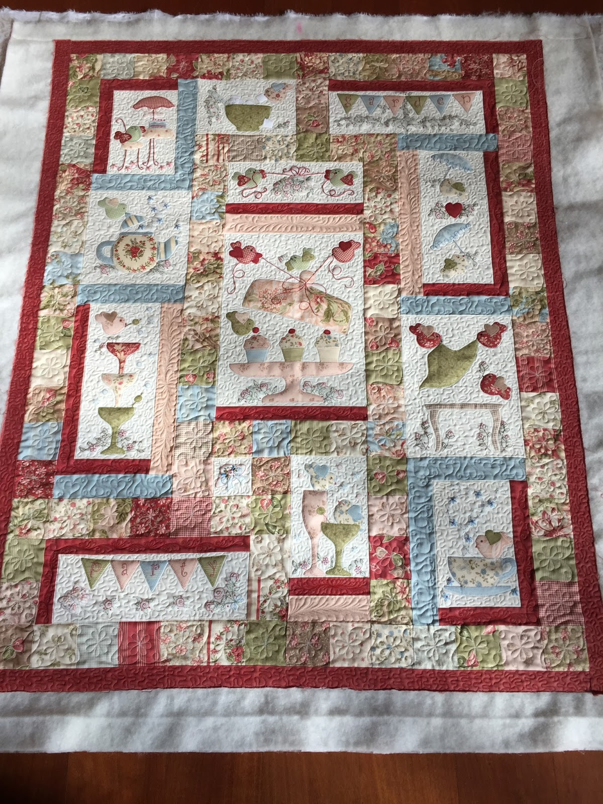 Sew Much To Quilt Garden Party Finished And Quilted