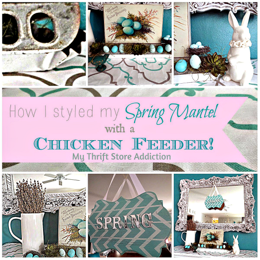 The Year in Review: 2015 Favorites mythriftstoreaddiction.blogspot.com How to style a mantel with a vintage chicken feeder and thrift store finds