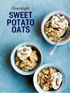A simple recipe for sweet potato overnight oats that's high in vitamin c & iron. This recipe is dairy free and vegan.