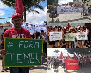 Protestos contra reformas da Previdência e Trabalhista param Nova Palmeira