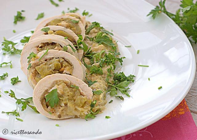 Rollatine light di pollo e verdura ricetta dietetica