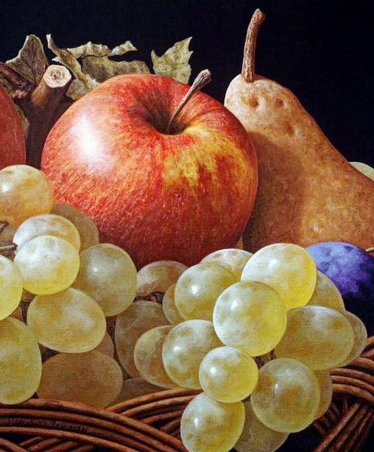 Im genes arte pinturas fotos de uvas pintadas al leo - Fotos de bodegones de frutas ...
