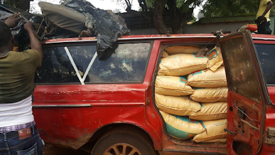 Customs seize 37 vehicles loaded with imported rice