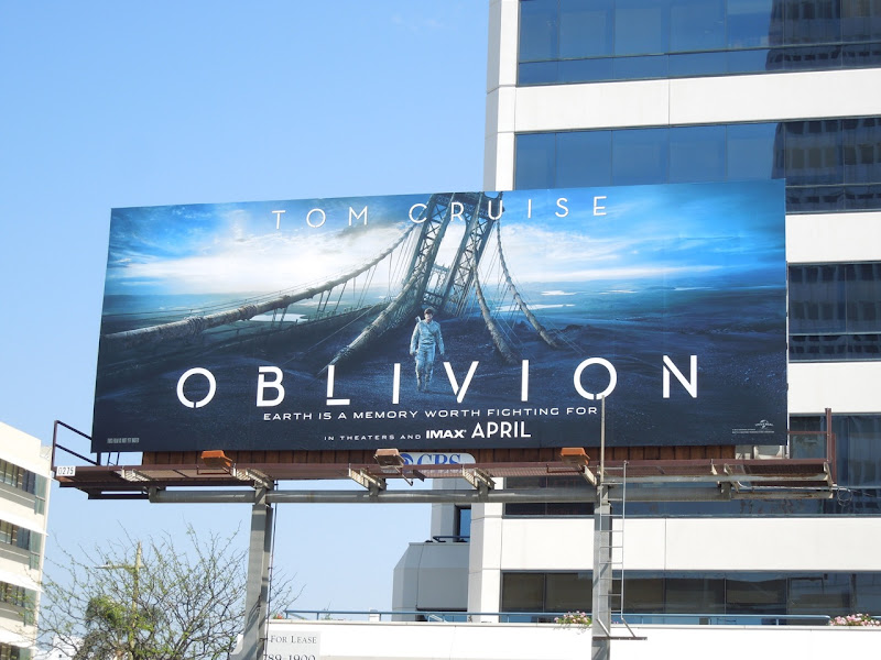 Tom Cruise Oblivion movie billboard