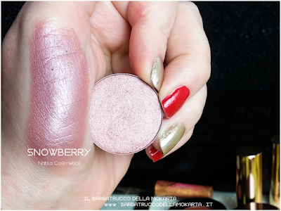 SNOWBERRY swatches eyeshadow ombretto  goldust collection Nabla cosmetics