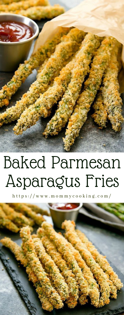 Baked Parmesan Asparagus Fries #recipe #ideas