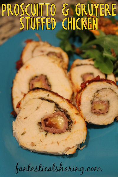 Prosciutto & Gruyere Stuffed Chicken    A dish that turns regular chicken into an exquisite, beautiful, and delicious meal #chicken #prosciutto #maindish #recipe
