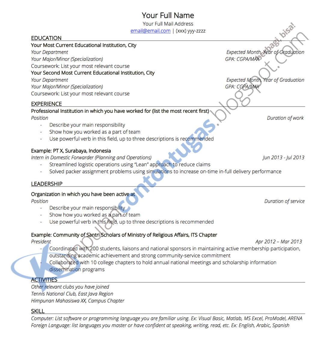 contoh resume doc resume for resume objective examples for retail