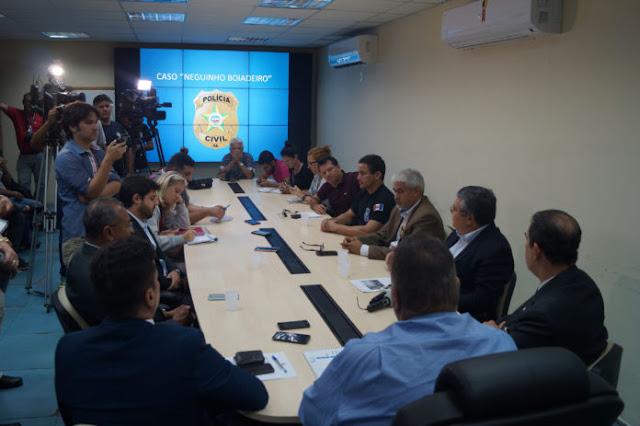 Segurança Pública dá detalhes da prisão de envolvidos na morte do vereador Neguinho Boiadeiro