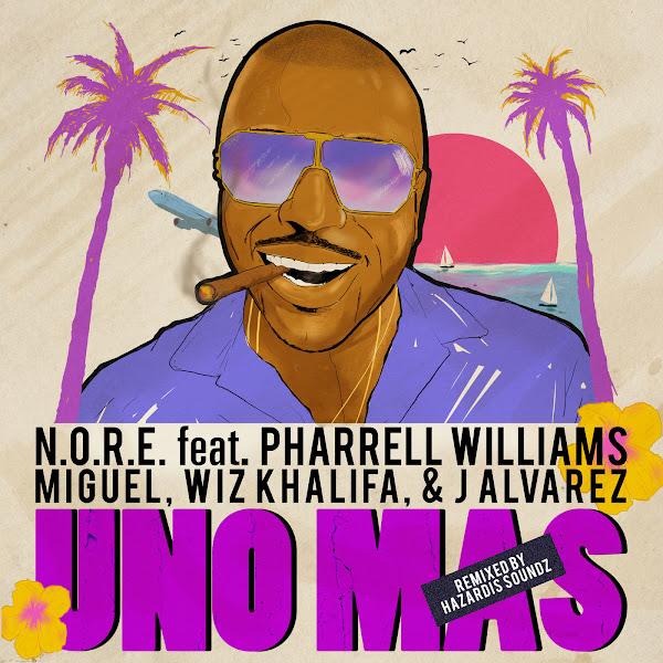 N.O.R.E. - Uno Más (feat. Pharrell Williams, Miguel, Wiz Khalifa & J Alvarez) [Remix] - Single Cover