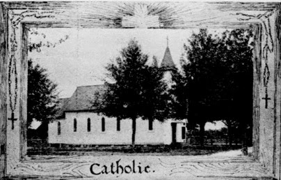 copy of vintage newspaper photo of St. Peter Church from 1906