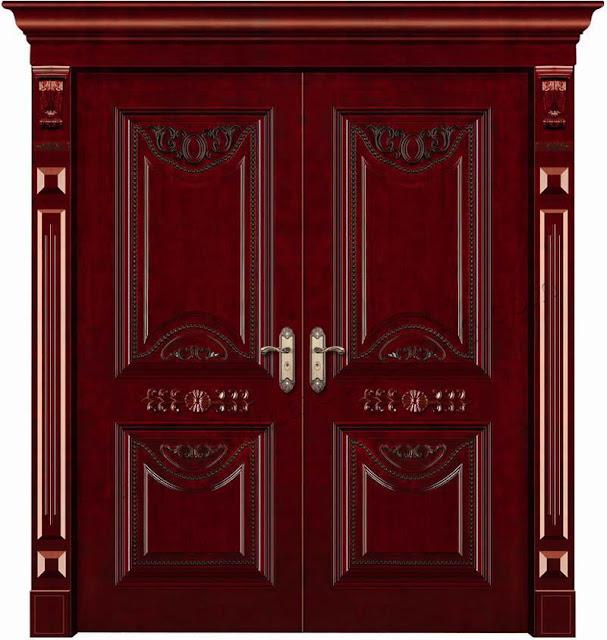cửa gỗ căm xe- mẫu 2