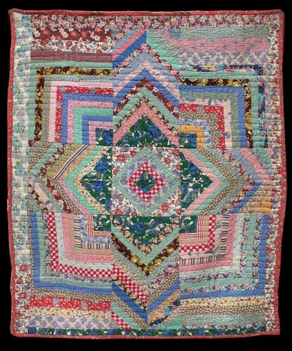 Michele bilyeu creates with heart and hands free easter spring an inspirational example of improvisational string quilt at its finest negle Images