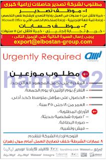 وظائف جريدة الوسيط الاسكندرية السبت 14-01-2017