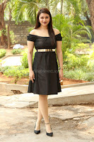 Mannara Chopra in Short Off Shoulder Black Dress ~  Exclusive 071.JPG