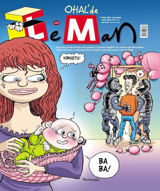 Leman Dergisi | 5 Ekim 2016 Kapak Karikatürü