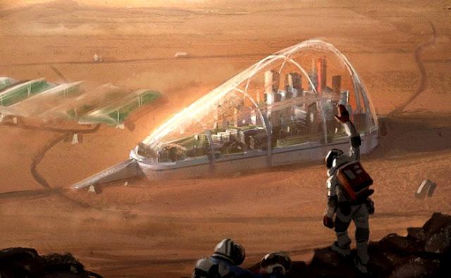 colonia arabe em Marte