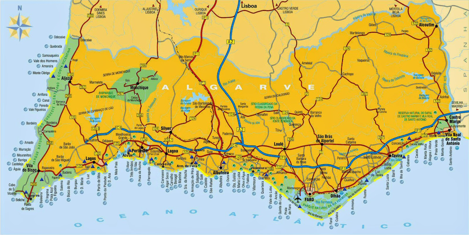 praias mapa de portugal Mapas de Lagos   Portugal | MapasBlog praias mapa de portugal