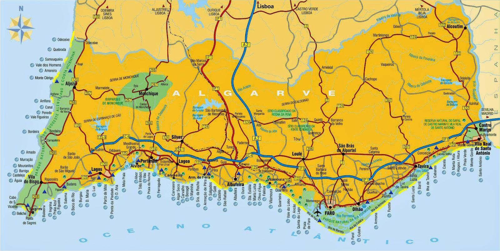 praias lisboa mapa Mapas de Lagos   Portugal | MapasBlog praias lisboa mapa