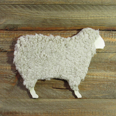 farmanimals wooden sheep spring decor