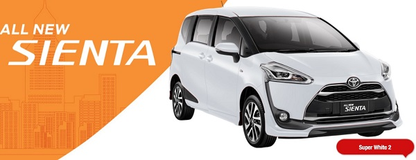 Warna Toyota All New Sienta Super White