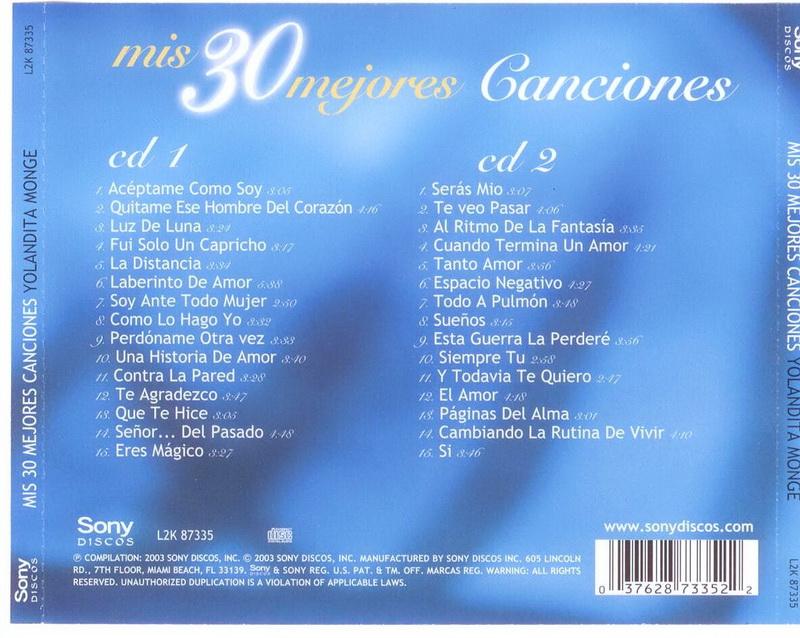 ENTRE MUSICA: YOLANDITA MONGE - Mis 30 Mejores Canciones
