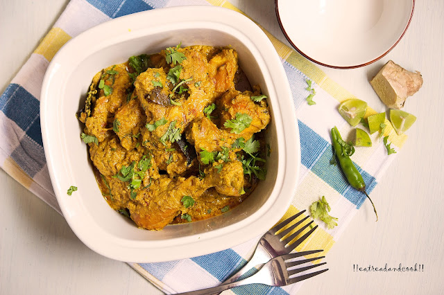 how to make Posto Murgi recipe and preparation / Bengali Chicken with Poppy Seeds Paste Curry recipe and preparation with step by step pictures