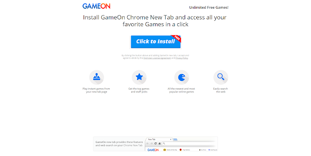 GameOn new tab