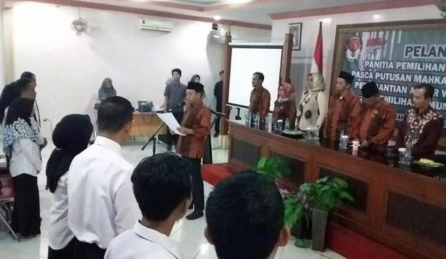 Pelantikan Anggota PPK Tambahan untuk Pemilu 2019