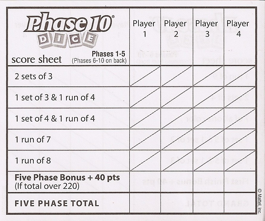 Rules Of Phase 10 Card Game