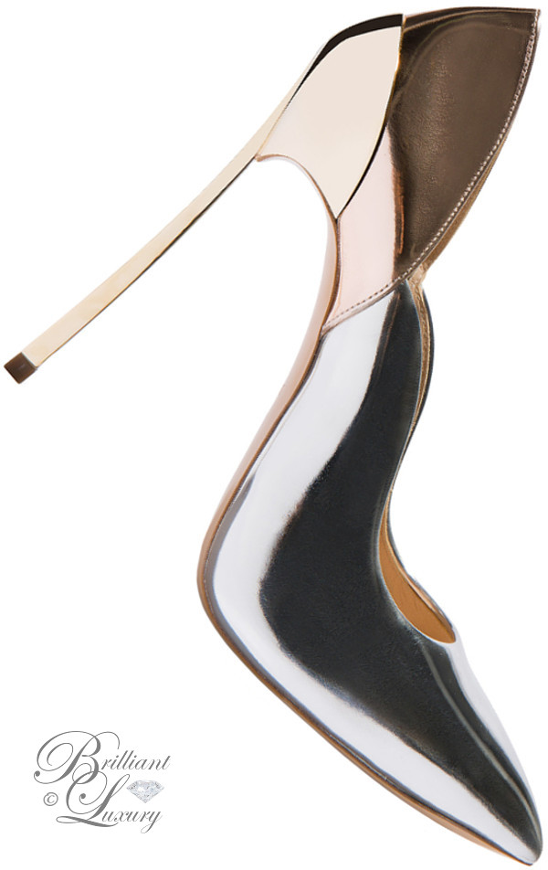Brilliant Luxury ♦ Casadei Blade techno mirrored pumps