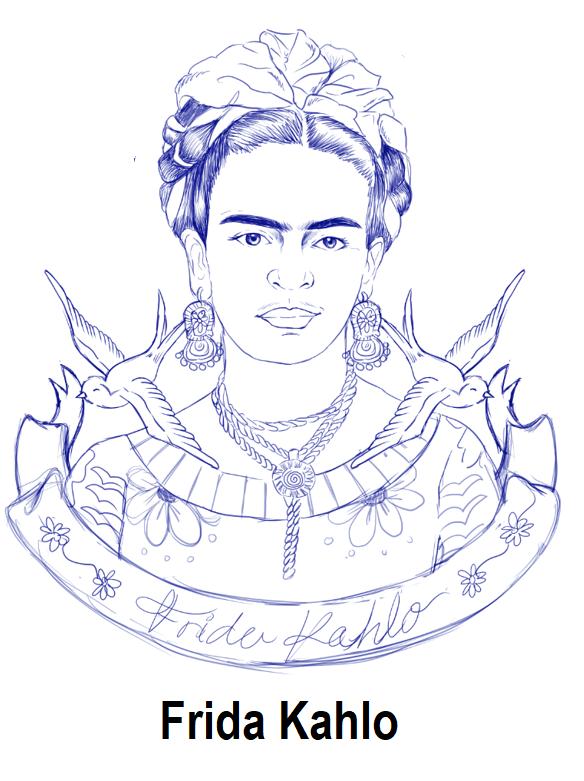 Geography Blog Dibujo De Frida Kahlo Para Colorear