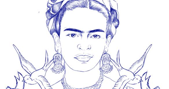 Frida Kahlo Para Dibujar: Geography Blog: Dibujo De Frida Kahlo Para Colorear