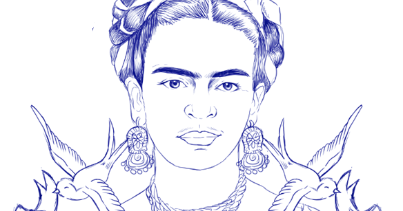 Frida Kahlo Dibujo Animado Para Colorear