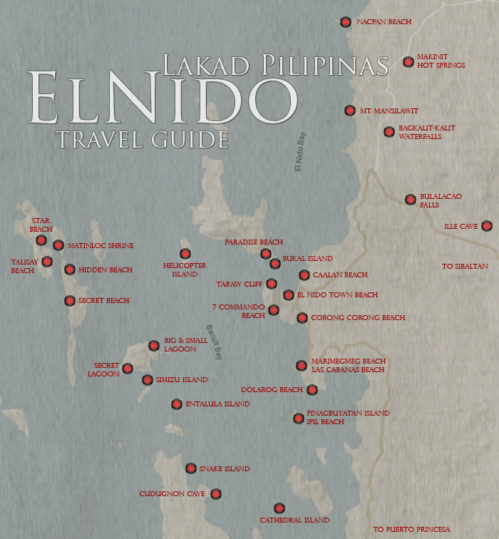 El Nido Tourist Spots Map